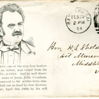 Solomon W. Jewett portrait on envelope
