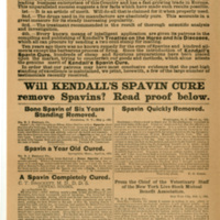 Facts to be considered [regarding Kendall's spavin cure]