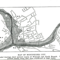 Map Showing Montpelier Flooding