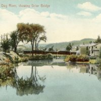 Northfield, Vt. Dog River showing Drive Bridge