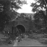 """Working on culvert near depot"""