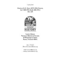Dorman B. E. Kent influenza diary excerpts.