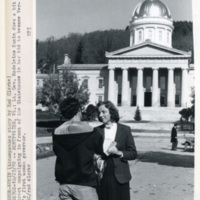 Kunin talks to a voter at the State House, 1982