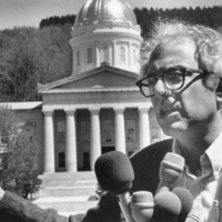 Sanders announces run for governor, 1986