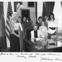 Kunin signs Women's History Month proclamation, 1988