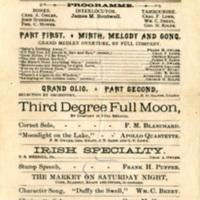 Apollo Club Minstrels, 1886