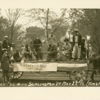 The College Pee-rade, Burlington, 1910