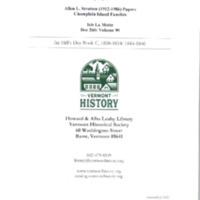 Isle La Motte: Ira Hill's Daybook C, 1844-1846