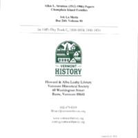 Isle La Motte: Ira Hill's Daybook C, 1846-1854