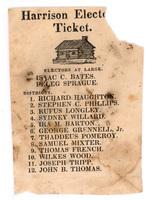 Harrison Elector Ticket, 1840