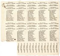 Uncut Anti-Masonic Party Tickets, 1834