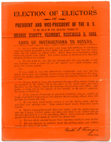 Card of Instructions to Voters, 1896