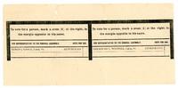 Official Ballot, Town of Cabot, 1898