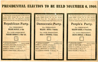 Presidential Election Ballot, Town of Essex, 1900