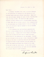 Letter to Voters from Redfield Proctor Jr., 1922