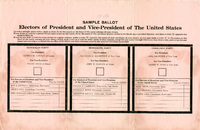 Sample Ballot for Electors of President and Vice-President of the United States, 1936