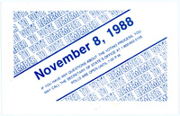 """Remember to Vote"" Postcard, 1988"