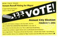 Instant Runoff Voting Instructions Postcard, 2006