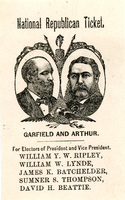 National Republican Ticket, Garfield and Arthur, 1880
